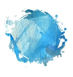 Blue watercolor blot vector