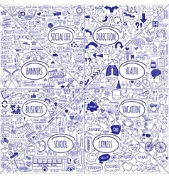Mega set of doodle icons vector