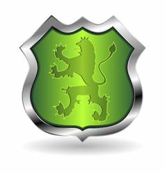 Shield with lion vector