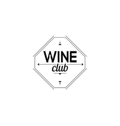 Symbol of the wine club sign sommelier vector