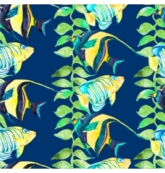 Tropical fish pattern seamless art vector