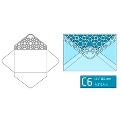 Lase envelope template a vector