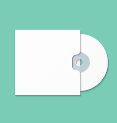 Cd cover template dwd box for cd-r vector