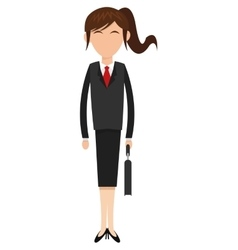 Business woman icon vector
