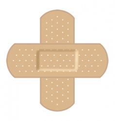 adhesive bandages forming a cr vector image