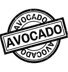 Avocado rubber stamp vector