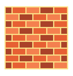 Brick wall flat icon security and build vector