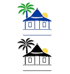 bungalow sign vector image