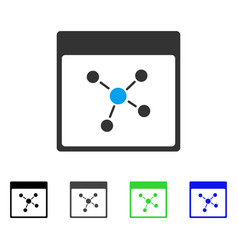 Connections calendar page flat icon vector