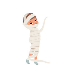 cute little kid wrapped in bandages boy in the vector image