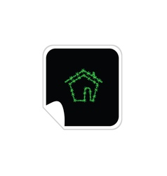 eco house sticker vector image vector image