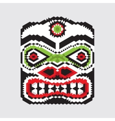 Geometric haida mask vector
