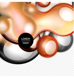 glass bubbles on grey modern techno liquid design vector image vector image