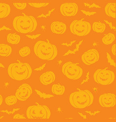 Happy halloween seamless pattern holiday party vector
