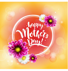 happy mothrs day banner vector image vector image