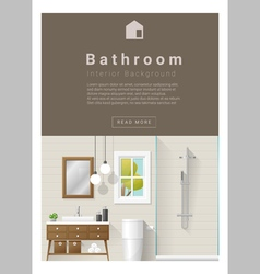 Interior design Modern bathroom banner 7 vector image vector image