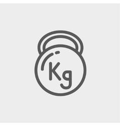 Kettlebell thin line icon vector