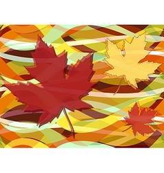 Maple leaves fall seamless pattern vector