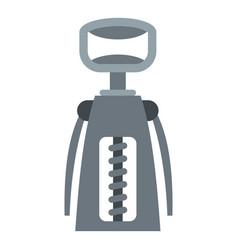 metal corkscrew icon isolated vector image