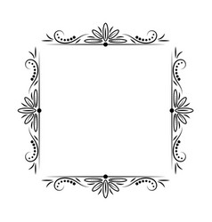 Modern stylish vintage black frame vector