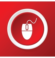 Mouse controller icon on red vector image vector image