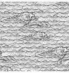 Ocean waves pattern vector image