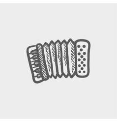 Organ sketch icon vector
