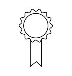 Premium certificate medal award line vector