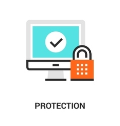 protection icon concept vector image vector image