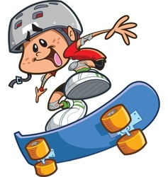 Skateboard Boy With Helmet vector image