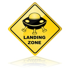 Spaceship landing zone vector image vector image
