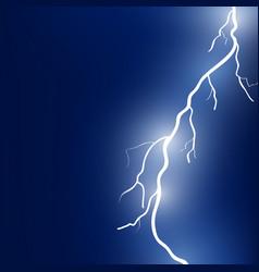 sparkling lightning bolt vector image