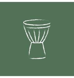 Timpani icon drawn in chalk vector