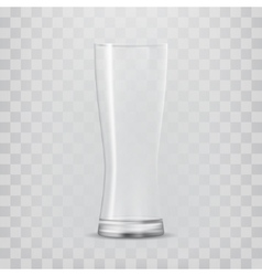 Transparent glass goblets vector image