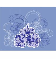 tropical flowers and waves vector image vector image