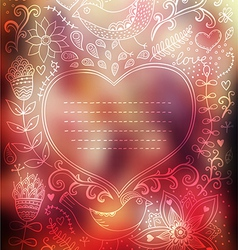 Valentines Day background Blurred template holiday vector image vector image