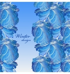 Winter frozen glass background Stripe border vector image vector image