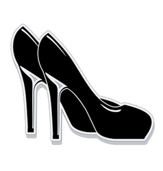 Heel shoes wear female isolated icon vector