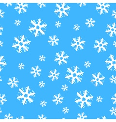 Seamless christmas decoration snowflakes vector