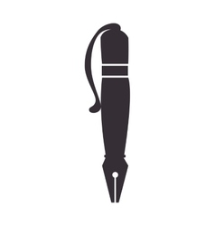 fine pen calligraphy vector image