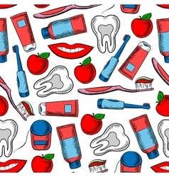 Dental health and dentistry seamless pattern vector