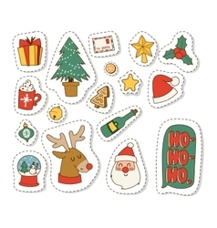 Christmas icons symbols set vector