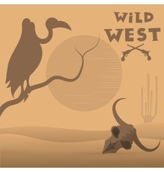 Wild west desert vector