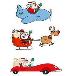 Santa claus transportation vector
