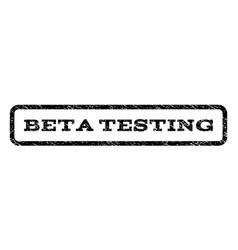 Beta testing watermark stamp vector