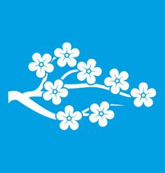 Sakura icon white vector