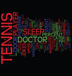 Tennis jokes text background word cloud concept vector