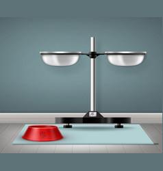 Metal and plastic bowls vector