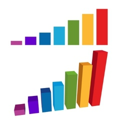 Flat and 3D Chart Color Diagram vector image