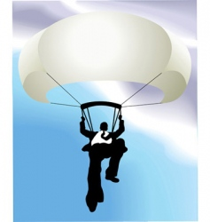 Businessman parachute vector